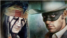 Johnny Depp and Arnie Hammer pose for a photo for the movie The Lone Ranger