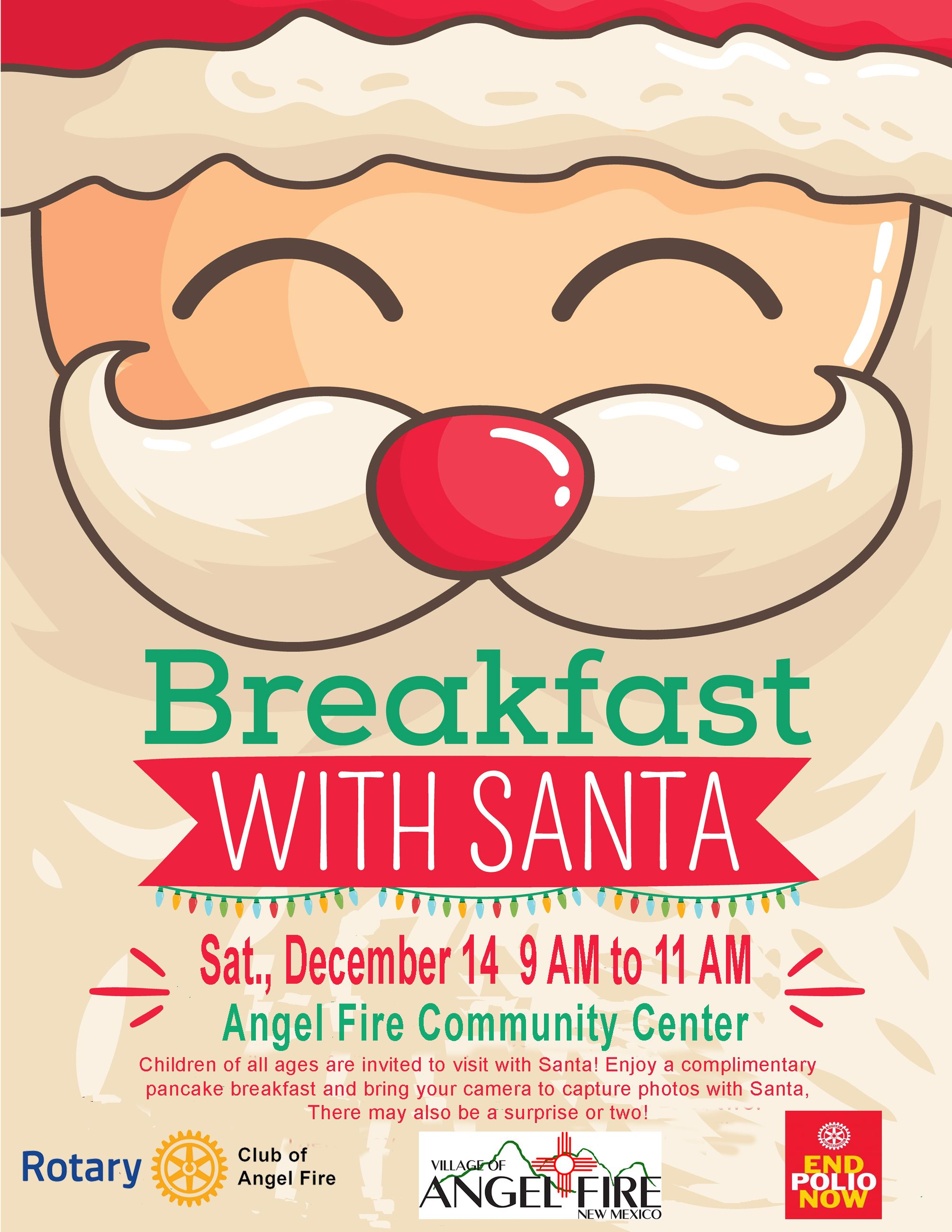 Breakfast with Santa 12.14.2019 flyer